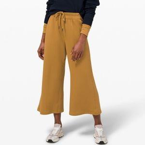 LULULEMON Spiced Bronze Ankle Length Fleece Pants
